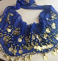 Платок для восточных танцев синий GoDance 001