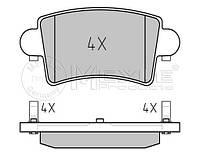 Тормозные колодки задние на Renault Master II 98->10  —  Meyle (Германия) - MY0252366916