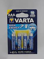 Батарейка Varta LR03   High-Energy 1x4