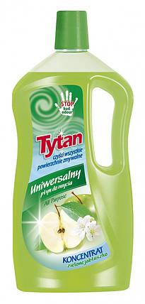Универсальная жидкость для мытья Tytan концентрат зеленое яблоко 1000g, фото 2