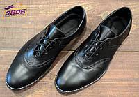 Черные кожаные мужские туфли-оксфорды Fratelli без каблука ( новинка весна, лето, осень )
