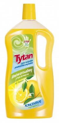 Универсальная жидкость для мытья Tytan концентрат лимон 1000гр., фото 2