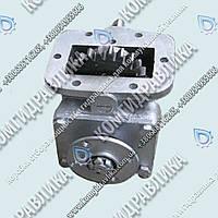 Коробка отбора мощности КОМ ГАЗ-3309, 4301 под кардан, ручное включение, алюминиевый корпус