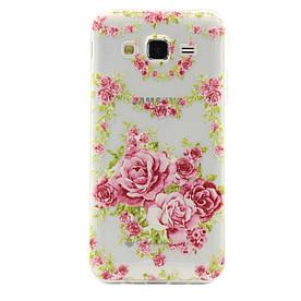 Чехол накладка для Samsung Galaxy J5 2016 J510F силиконовый ультратонкий, Цветущие розы