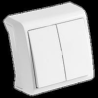 Выключатель 2-кл. белый,крем ViKO Vera