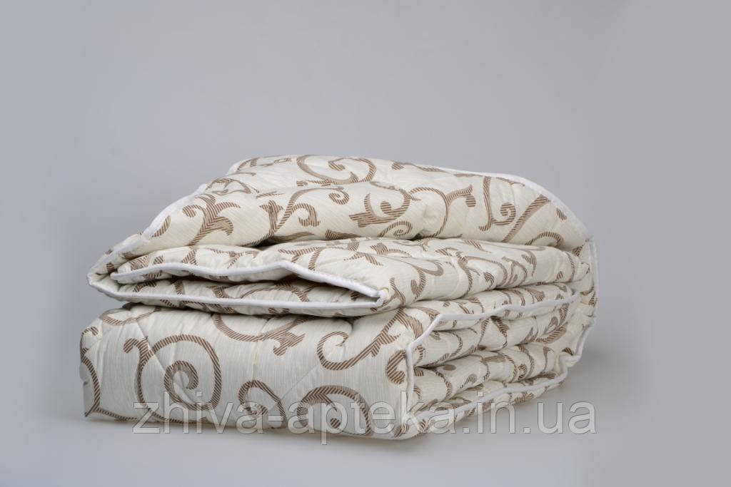 Одеяло из новозеландской овечьей шерсти «Вензели» (лето) 140*205см