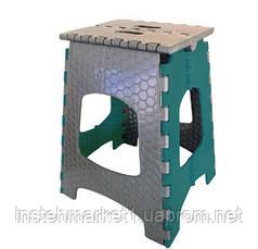 Табурет складной пластиковый ТАРЛЕВ СТ-001 (зеленый)