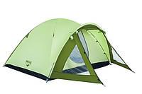 Палатка 4-х местная двухслойная! 3000 mm H2O! Best Way 68014!