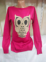 Женский свитер сова