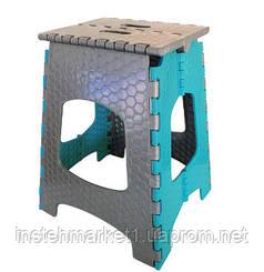 Табурет складной пластиковый ТАРЛЕВ СТ-003 (голубой)