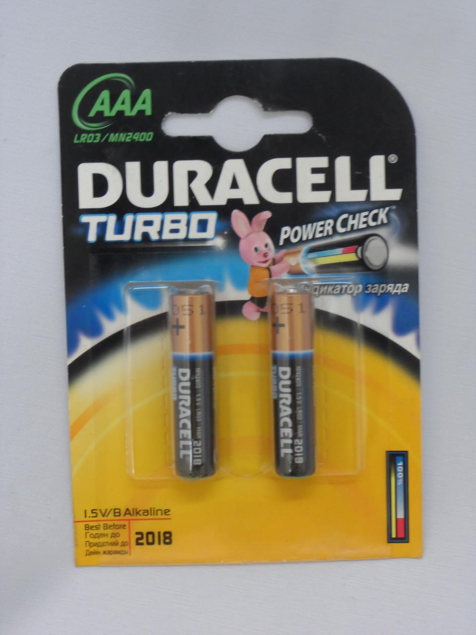 Батарейка DURACELL LR03 Turbo 1x2