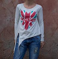 Женская белая футболка с завязочками