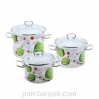 Набор посуды Epos Лайм 6 предметов емаль (№1500 Лайм)