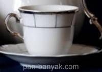 Набор чайный Thun Menuet (Обводка платина) на 6 персон 12 предметов 230мл d8,5 см h7,5 см фарфор (7224800)