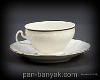 Bernadotte (Обводка золото) Набор чайный на 6 персон 12 предметов 205мл d10 см h6 см фарфор Thun
