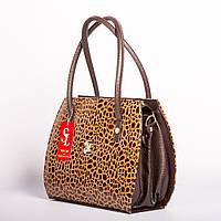 Коричневая сумка №1335bn3 женская лаковая дамская
