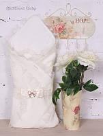 """Праздничный конверт на для новорожденных """"Шарлота""""  айвори, фото 1"""