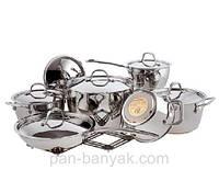 Набор посуды 13 предметов нержавейка Vinzer