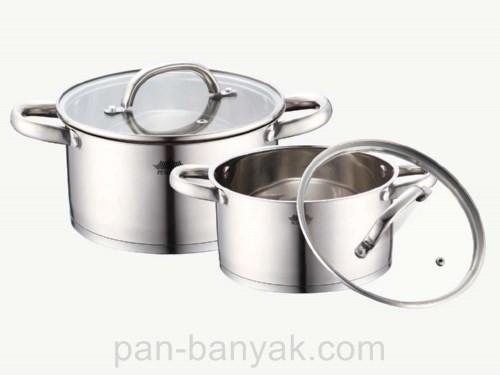 Набор посуды Petergoff  4 предмета нержавейка (15269 PH)