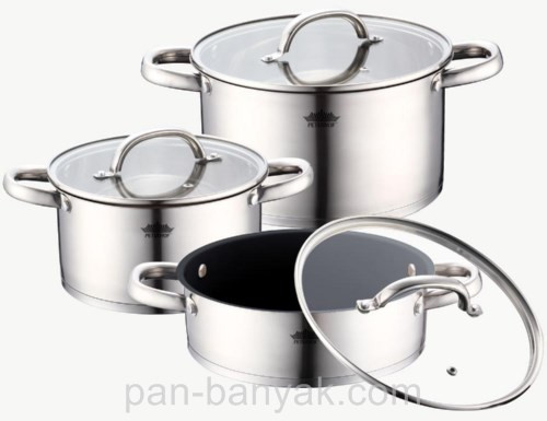 Набор посуды Petergoff  6 предметов нержавейка (15270 PH)