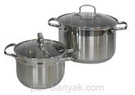 Набор посуды 4 предмета нержавейка Petergoff