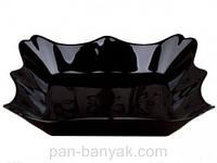Тарелка глубокая Luminarc Authentic Black квадратная 22х22 см стеклокерамика (1407J)