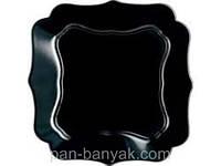 Тарелка десертная Luminarc Authentic Black квадратная 20,5х20,5 см стеклокерамика (1336J)