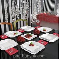Authentic White Сервиз столовый 19 предметов стеклокерамика Luminarc