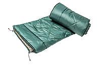 Спальный мешок туристический (зеленый)