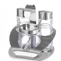 Набор для специй Hendi (соль/перец/соус) 3 предмета нержавейка (465332)