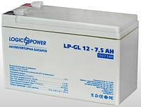 Аккумулятор гелевый Logicpower LP-GL 12V 7.5AH, фото 1