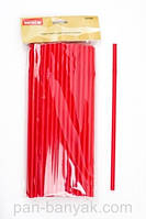 Соломка с изгибом для коктейлей Empire  красная 50 штук длина 28,5 см пластик (0236 EM)