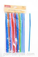 Соломка для коктейлей Empire  разноцветная 50 штук длина 26,5 см пластик (0239 EM)