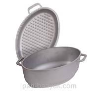 Гусятница с крышкой-сковородой 2,5л h14 см литой алюминий Биол