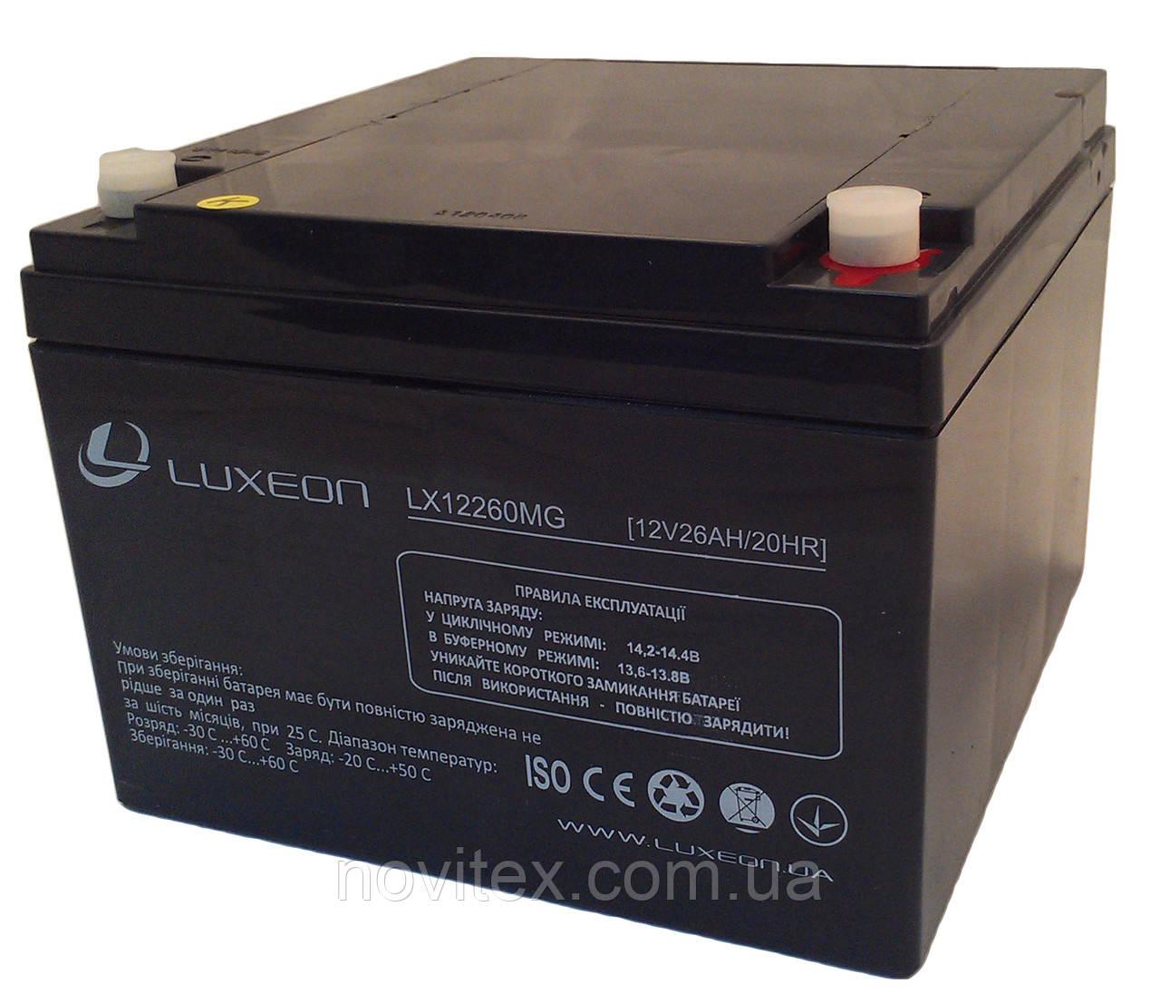 Аккумулятор мультигелевый Luxeon LX12260MG 12V 26Ah