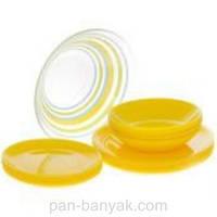 Сервиз столовый Luminarc Arty Yellow 19 предметов ударопрочное стекло (8773H)