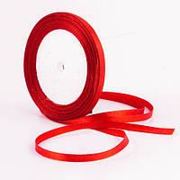 Лента ширина  0,7 мм. атласная катушка 22,7 м\25 ярдов красный