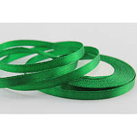 Лента ширина  0,6 мм. атласная катушка 32,8 м\36 ярдов темно зеленый