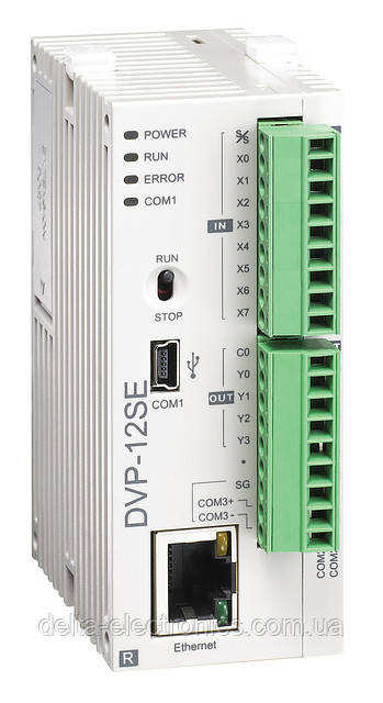 Базовий модуль контролера з серії SE Delta Electronics, 8DI/4DO тр., 24В, Ethernet, RS485, DVP12SE11T