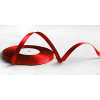 Лента атласная ширина  1,2 см. полная катушка 22,7 м\25 ярдов красный