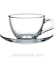 Basic Набор чайный 12 предметов 240мл d9,1 см h6,4 см стекло Pasabahce