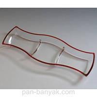 Менажница WG Winx Cherry Red d41,5 см стекло (4486)