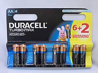 Батарейка DURACELL LR6 Turbo Max 1x(6+2)