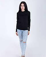Классический женский джемпер в черном цвете