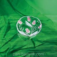 Nadin Rose Тарелка 3 штуки d18 см стекло WG