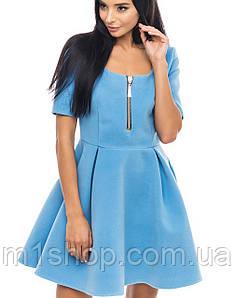 Кашемировое расклешенное женское платье (1007 br)