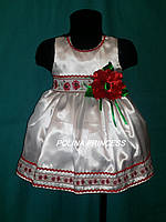 Детское платье белое в украинском стиле