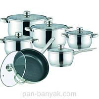 Набор посуды Maestro  12 предметов нержавейка (2020 MR)