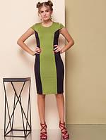 Женское стильное  Платье Лагуна олива   от 42-50