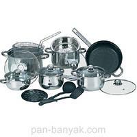 Набор посуды Maestro  17 предметов нержавейка (2520 MR)